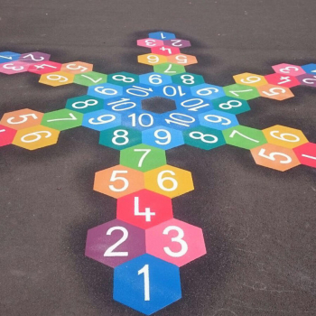 Hexagon Hopscotch