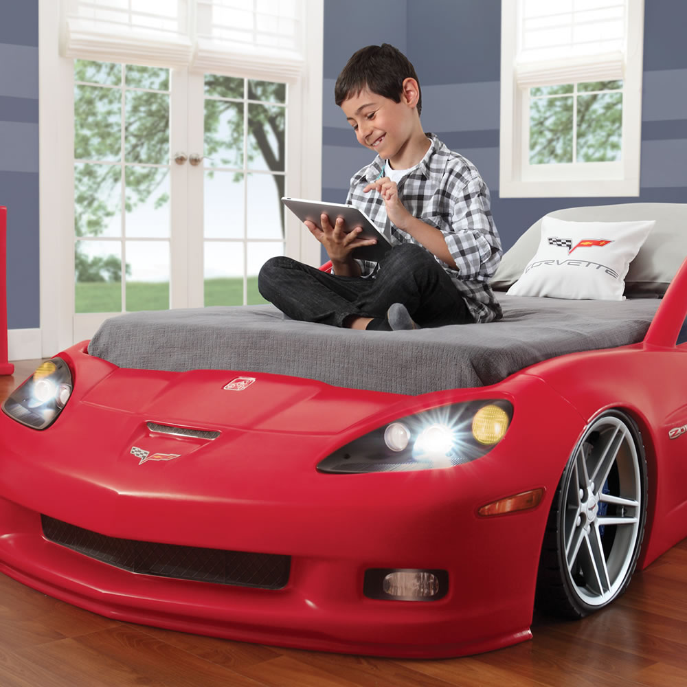 Corvette Bed Toddler To Twin Bed With Lights Crazy Concepts
