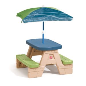 Picnic tables for kids step2 crazy concepts - Children s picnic table with umbrella ...