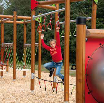Obstacle course for adults and kids